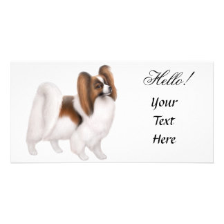 Papillon Dog Photo Card