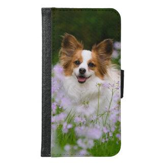 Papillon Dog Romantic Galaxy S6 Wallet Case