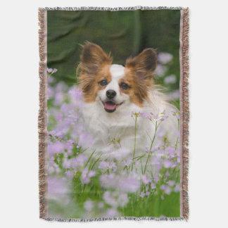 Papillon Dog Romantic Portrait, blanket