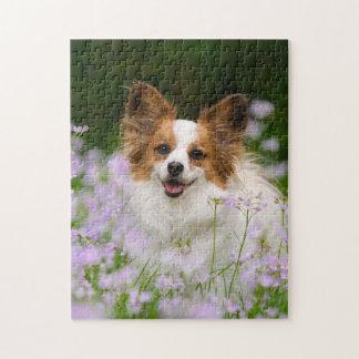 Papillon Dog Romantic Portrait Game 11x14 Puzzles