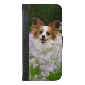 Papillon Dog Romantic Portrait iPhone Wallet Case
