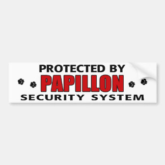 Papillon Dog Security Bumper Sticker
