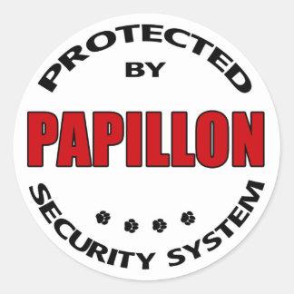 Papillon Dog Security Round Sticker