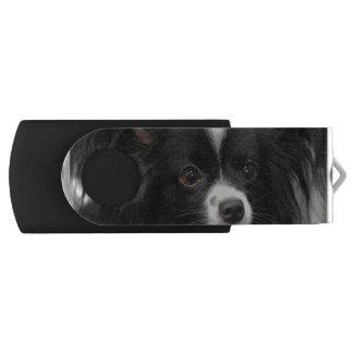 Papillon Dog Swivel USB 2.0 Flash Drive
