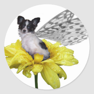 papillon fairy dog sticker