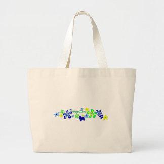 Papillon Flowers Canvas Bags