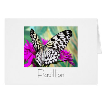 Papillon Greeting Card Design