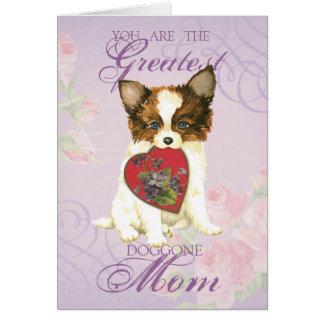 Papillon Heart Mom Card