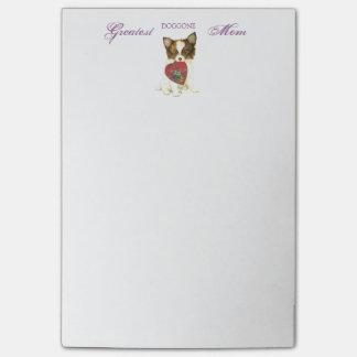 Papillon Heart Mom Post-it® Notes