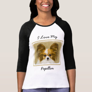 Papillon (Hound Tri Color) T-Shirt