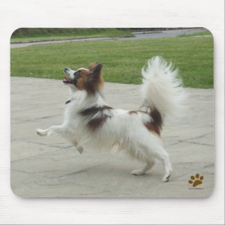 Papillon Jumping Mouse Pad