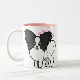 Papillon Love Two-Tone Coffee Mug