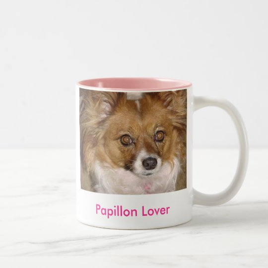 Papillon Lover - Customised Two-Tone Coffee Mug