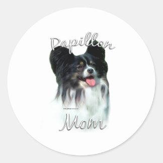 Papillon Mom 2 Round Sticker