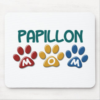 PAPILLON Mom Paw Print 1 Mouse Pad