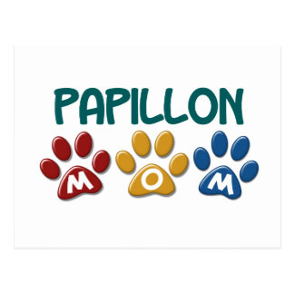PAPILLON Mom Paw Print 1 Postcard
