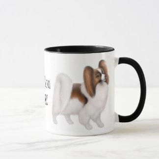 Papillon Mom Ringer Mug