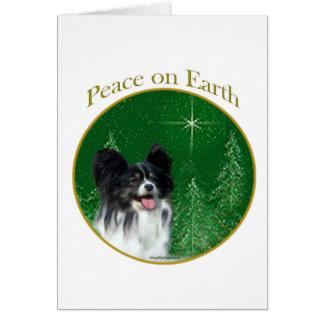 Papillon Peace Card