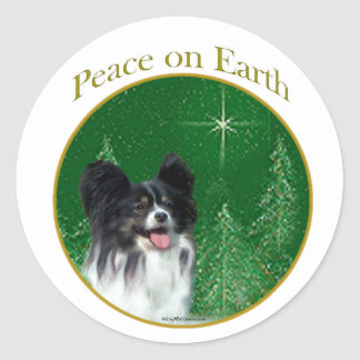 Papillon Peace Classic Round Sticker