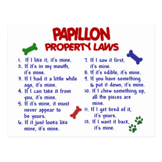PAPILLON Property Laws 2 Postcard