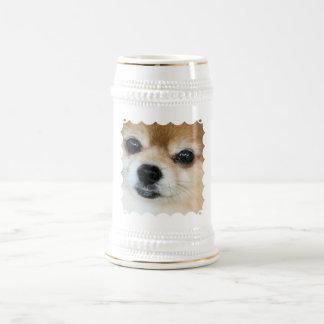 Papillon Puppy Beer Stein Coffee Mug