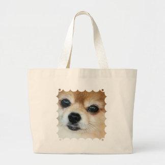 Papillon Puppy Canvas Bag
