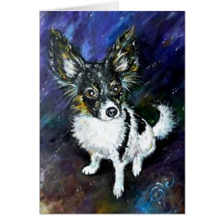 Papillon puppy greeting card