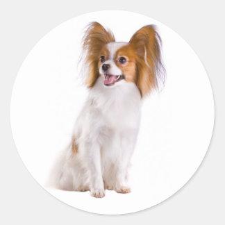 Papillon Puppy Dog - Love Puppies, Hello Classic Round Sticker