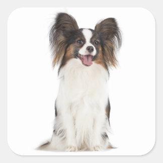 Papillon Puppy Dog - Love Puppies Square Sticker