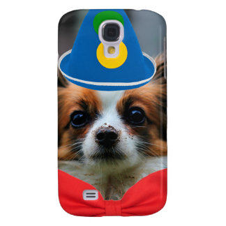 Papillon Puppy Dressed as a Clown Galaxy S4 Case