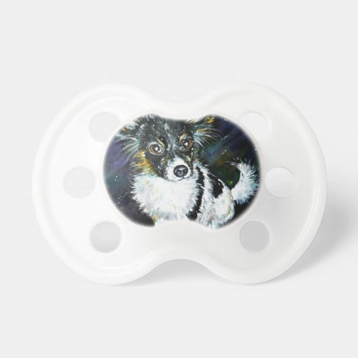 Papillon puppy pacifiers