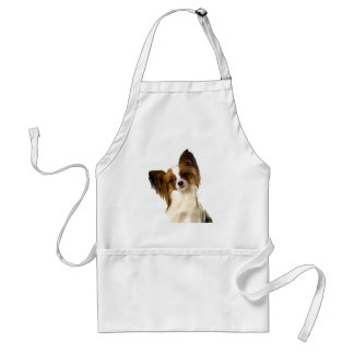 Papillon puppy Isolated on editable Background Pil Standard Apron