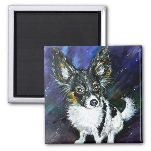 Papillon puppy magnets