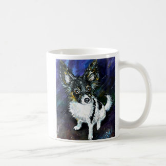 Papillon puppy classic white coffee mug