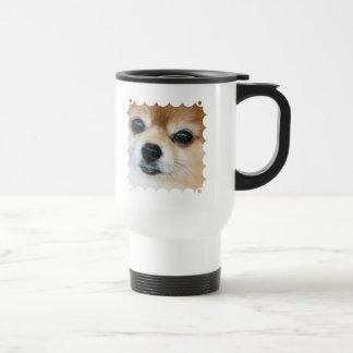 Papillon Puppy Plastic Travel Mug