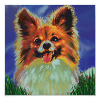papillon puppy poster