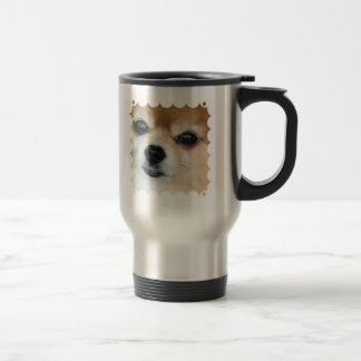 Papillon Puppy Stainless Travel Mug