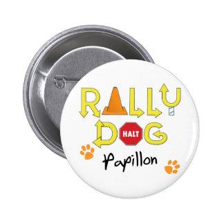 Papillon Rally Dog 6 Cm Round Badge