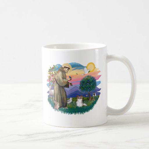 Papillon (sable-white) coffee mug