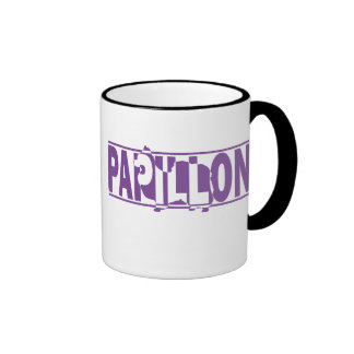 Papillon Silhouette Coffee Mugs