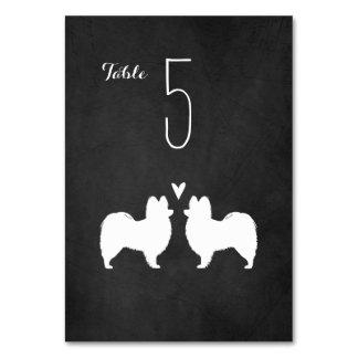 Papillon Silhouettes Wedding Table Card