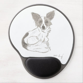 Papillon Sketch Gel Mousepad