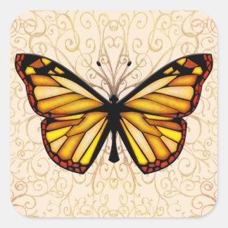 Papillon Square Sticker