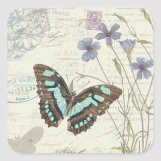Papillon Tales Square Sticker