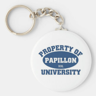 Papillon University Basic Round Button Key Ring