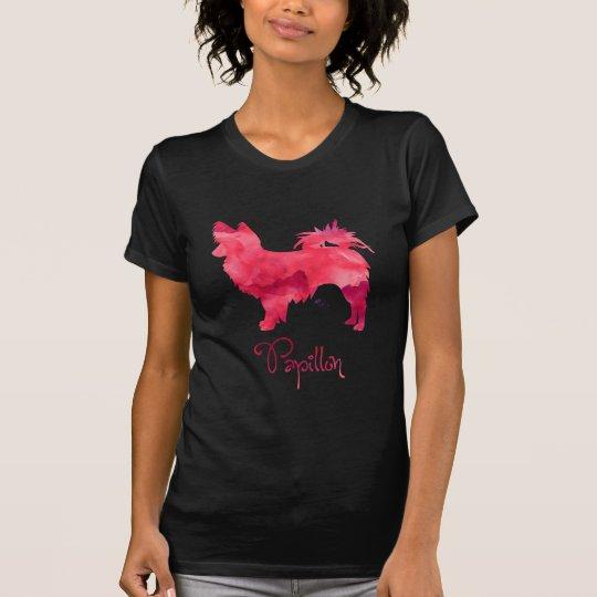 Papillon Watercolor Design T-Shirt
