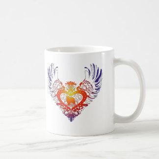 Papillon Winged Heart Coffee Mug