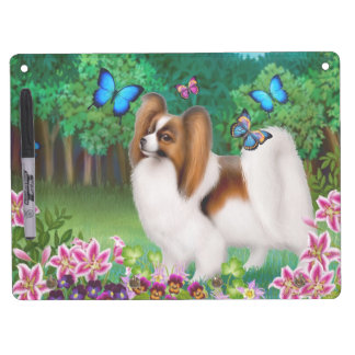 Papillon with Butterflies Dry Erase Board