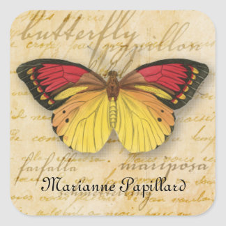 Papillon Words Sticker