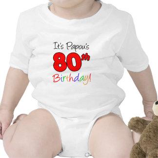 Papou s 80th Birthday Bodysuits